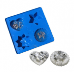 Resin Mould Mold Tray, Heart, Star, Flower, Ridged Dome. Casting, Craft, Decorative. S7290
